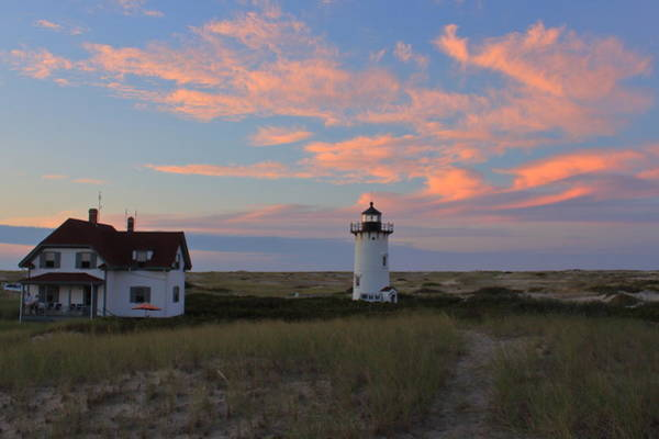 Wall Art - Photograph - Race Point Lighthouse Sunset by John Burk
