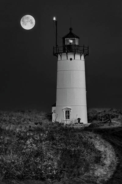 Photograph - Race Point P-town Ma Bw by Susan Candelario