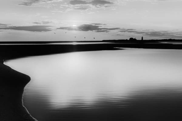 Photograph - Race Point Silhouette Bw by Bill Wakeley