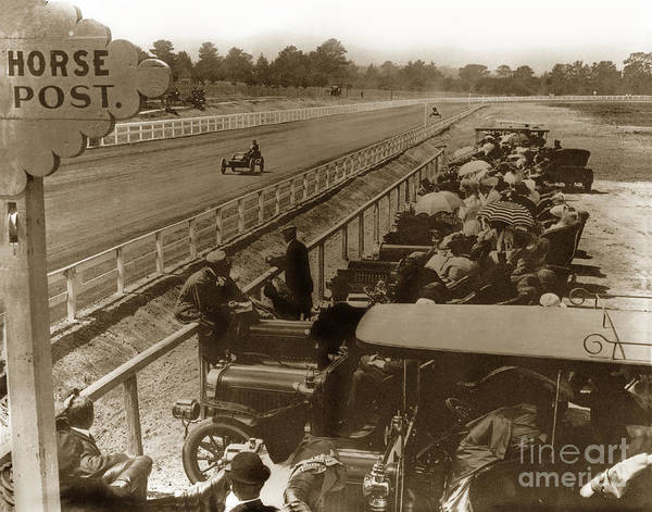 Photograph - Race Track At Hotel Del Monte Monterey Ca. Circa 1906 by California Views Archives Mr Pat Hathaway Archives