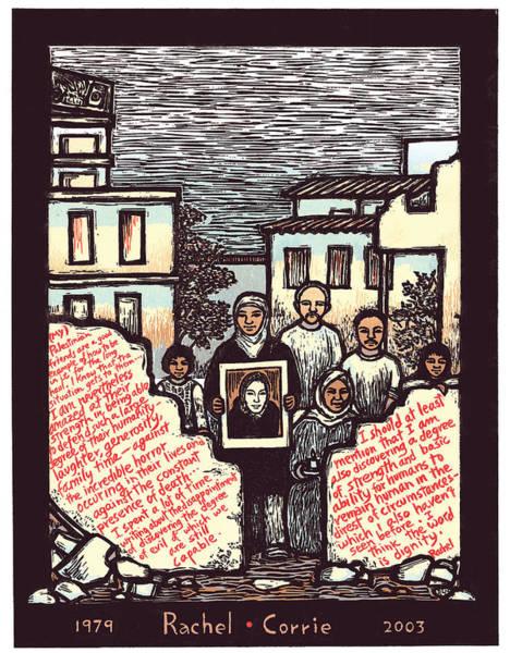 Rights Mixed Media - Rachel Corrie by Ricardo Levins Morales