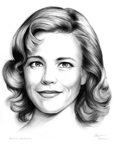 Actress Drawing - Rachel Mcadams by Greg Joens