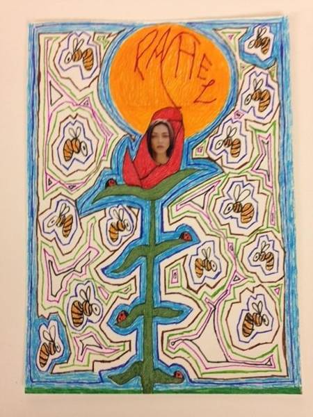 Primary Colors Drawing - Rachel by William Douglas
