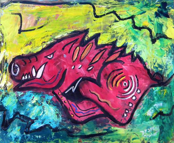 Painting - Racin' Red by David McGhee