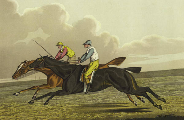 Wall Art - Painting - Racing by Henry Thomas Alken