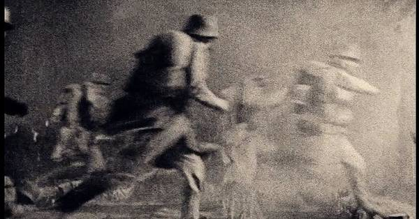 Photograph - Racing Into Battle Screen Capture Unknown Location C. 1917 by David Lee Guss