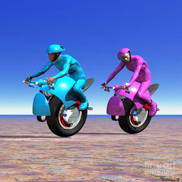 Digital Art - Racing The Desert by Walter Neal