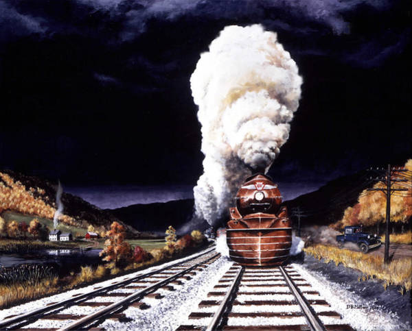 Wall Art - Painting - Racing The Storm by David Mittner