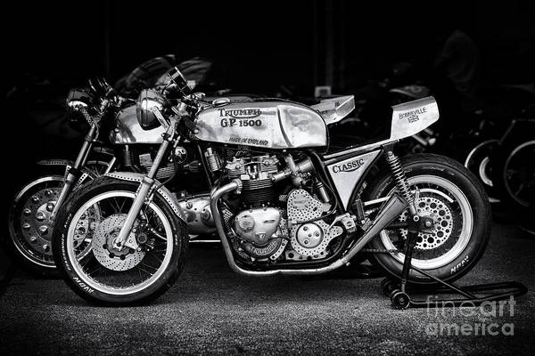 Street Racer Photograph - Racing Triumph Special by Tim Gainey