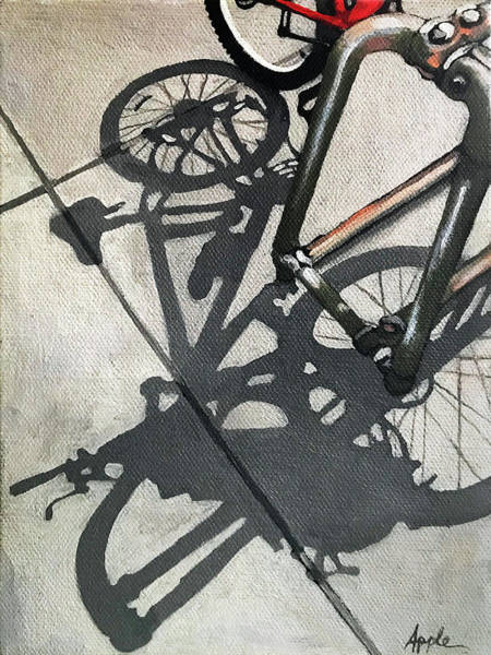 Wall Art - Painting - Racked Up - Bicycle Painting by Linda Apple