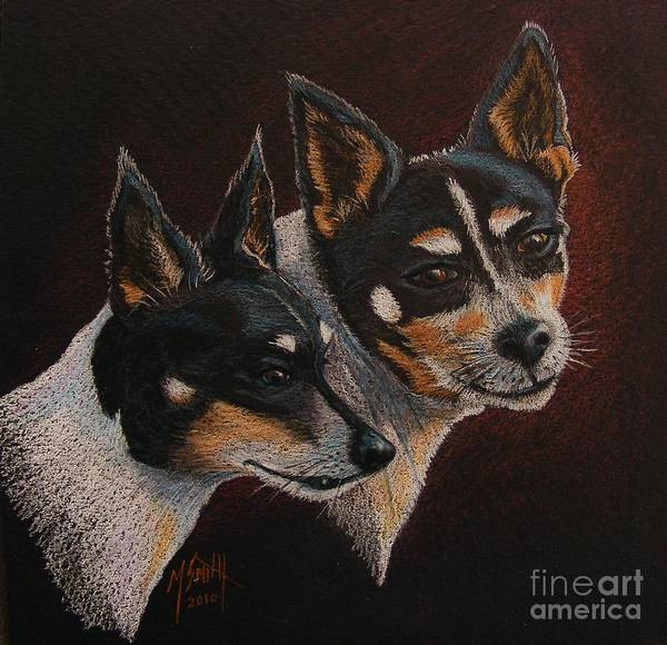 Drawing - Radar And Ginger by Marilyn Smith