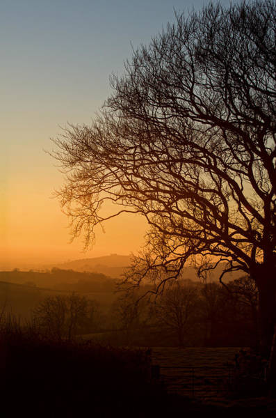 Photograph - Raddon Hill At Sunset by Pete Hemington