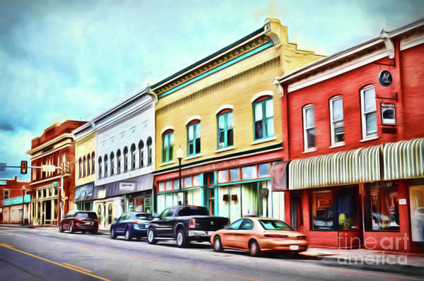 Radford Photograph - Radford Virginia - Along Main Street by Kerri Farley