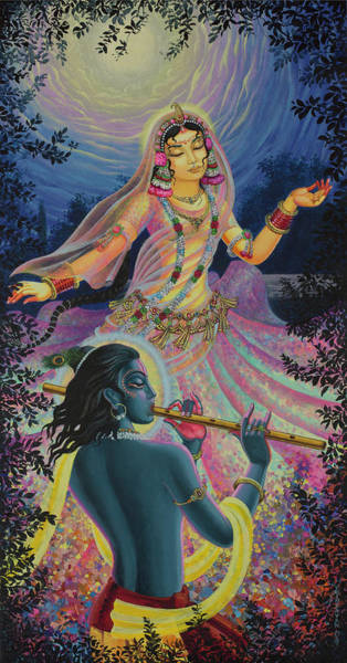 Wall Art - Painting - Radharani's Dance by Vrindavan Das