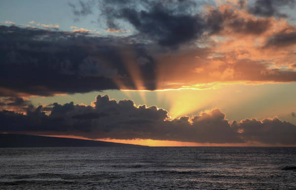 Maui Sunset Photograph - Radiance by Laurie Search