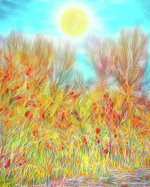 Digital Art - Radiant Flame Trees - Colorado by Joel Bruce Wallach