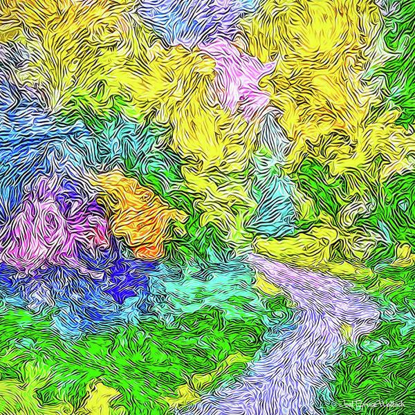 Radiant Garden Pathway - Trail Through Santa Monica Mountains Art Print