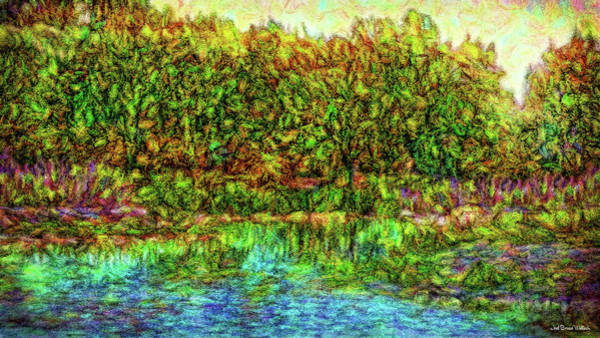 Digital Art - Radiant Lake Moment by Joel Bruce Wallach
