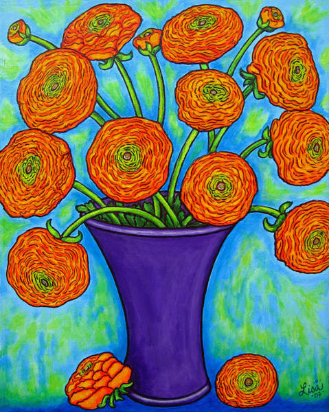 Painting - Radiant Ranunculus by Lisa  Lorenz