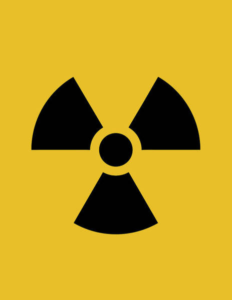 Radiation Wall Art - Digital Art - Radiation Hazard Symbol by War Is Hell Store