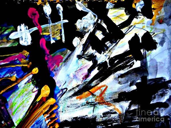 Painting - Radical Abstract-6 by Katerina Stamatelos