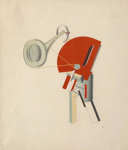 Sax Painting - Radio Announcer by El Lissitzky