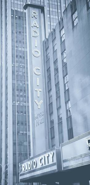 Photograph - Radio City Cool Toned by Dan Sproul
