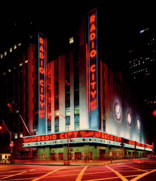 Rockettes Photograph - Radio City Music Hall 1990s by Mountain Dreams