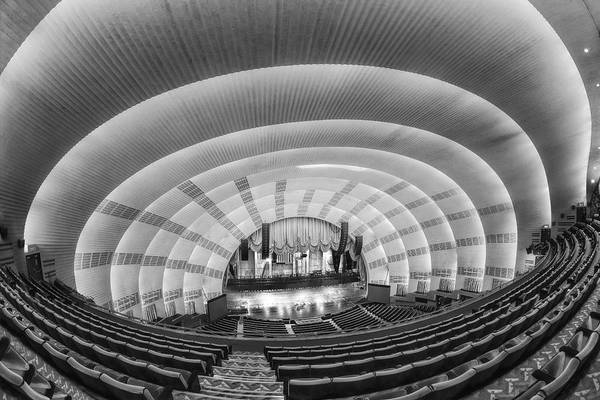 Center Stage Photograph - Radio City Music Hall Bw by Susan Candelario