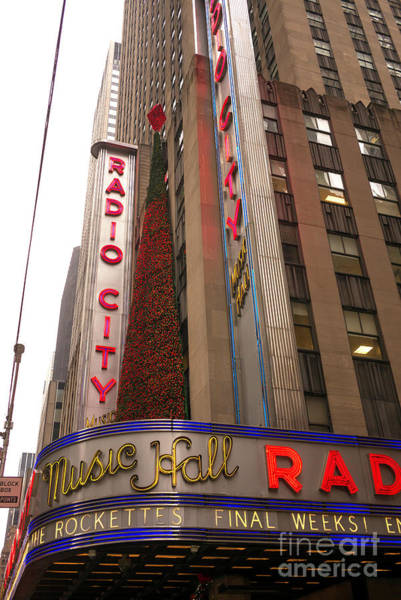 Photograph - Radio City Music Hall Christmas Tree New York City by John Rizzuto