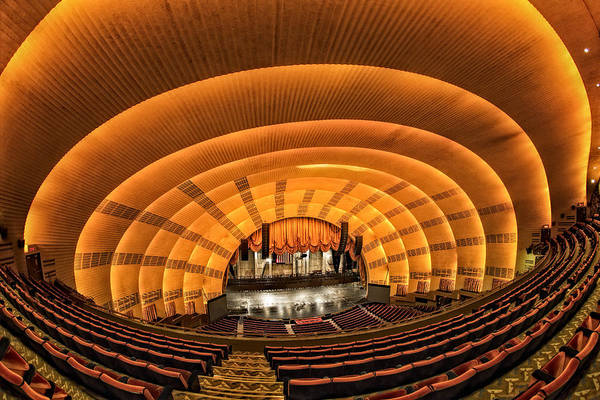Center Stage Photograph - Radio City Music Hall by Susan Candelario