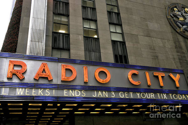Wall Art - Photograph - Radio City Neon 2015 by John Rizzuto