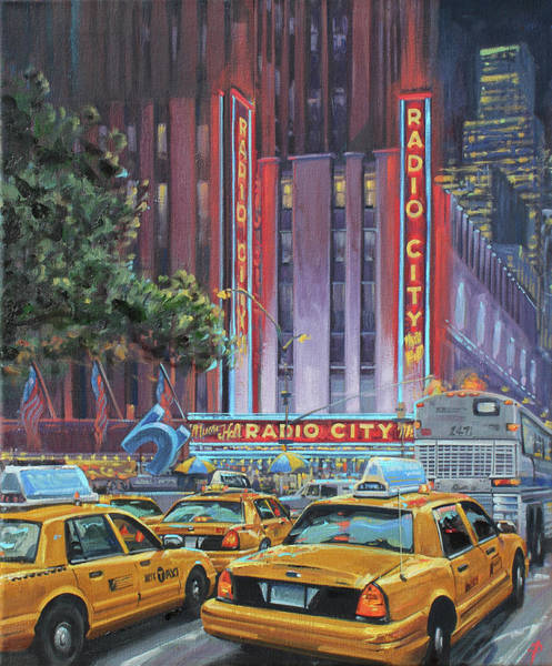 Avenue Of The Americas Painting - Radio City by Paul Simmons