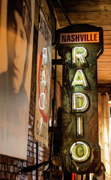 Wall Art - Photograph - Radio Nashville Sign by Stephen Stookey