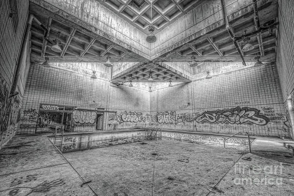 Wall Art - Photograph - Radioactive Pool Bw by Michael Ver Sprill