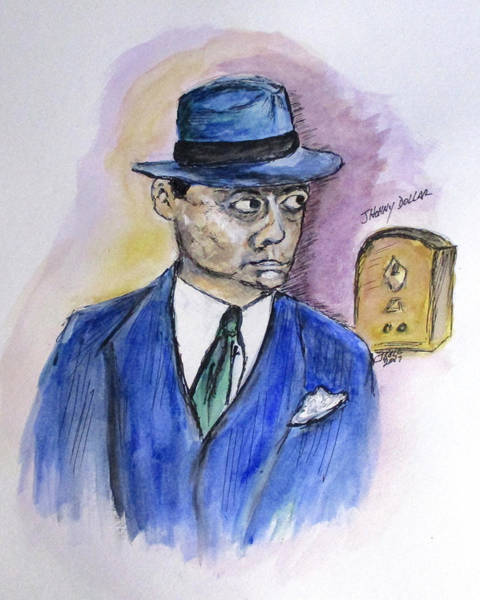 Drawing - Radio's Johnny Dollar by Clyde J Kell