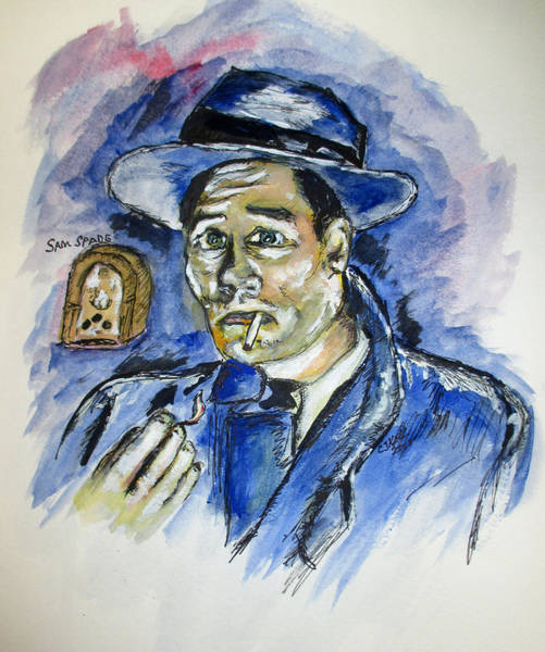 Painting - Radio's Sam Spade by Clyde J Kell