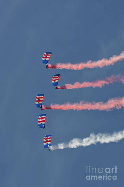 Raf Parachute Display Team Art Print