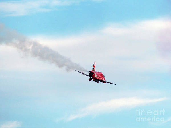 Photograph - Royal Air Force - Red Arrow by Phil Banks
