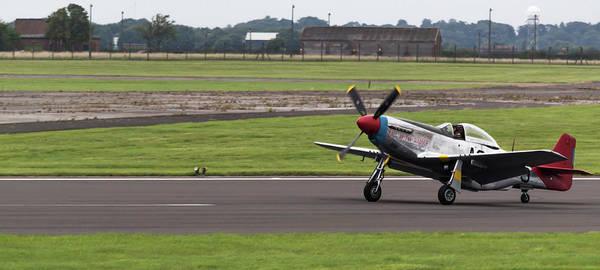 Photograph - Raf Scampton 2017 - P-51 Mustang Landing by Scott Lyons