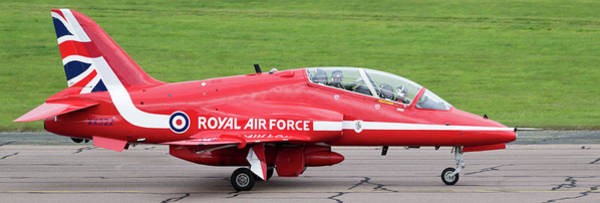 Photograph - Raf Scampton 2017 - Red Arrows Xx322 Sitting On Runway by Scott Lyons