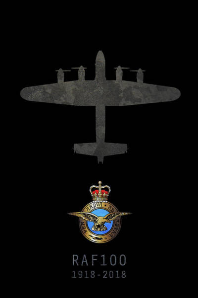 Wall Art - Digital Art - Raf100 - Avro Lancaster by J Biggadike
