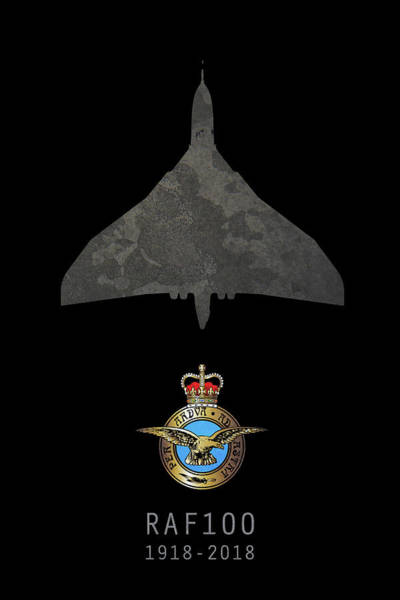 Wall Art - Digital Art - Raf100 - Avro Vulcan by J Biggadike