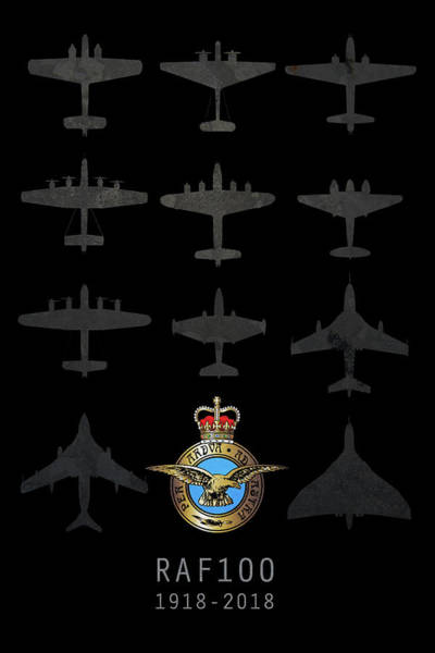 Wall Art - Digital Art - Raf100 - The Bombers by J Biggadike