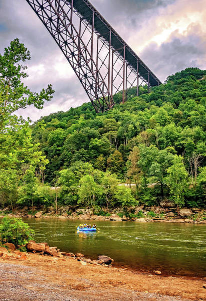Wall Art - Photograph - Rafting Beneath The New River Bridge by Steve Harrington