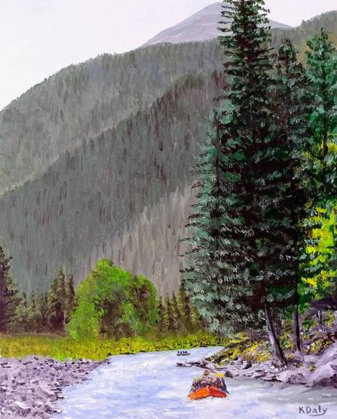 Art Print featuring the painting Rafting The Gallatin by Kevin Daly
