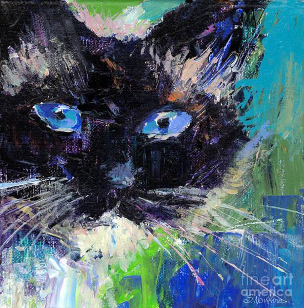 Russian Blue Painting - Ragdoll Cat Painting by Svetlana Novikova