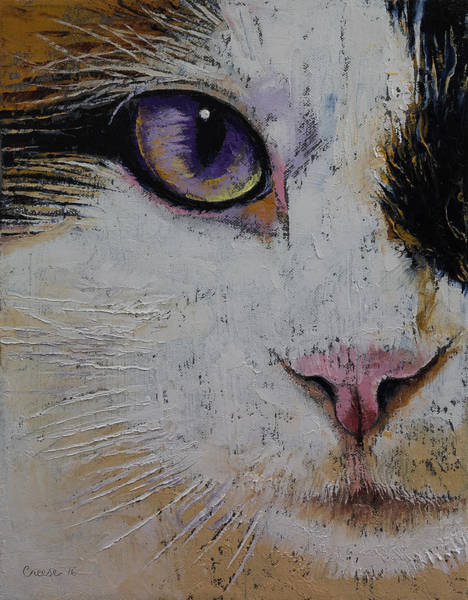 Looking Up Painting - Ragdoll by Michael Creese