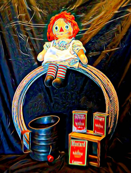 Mixed Media - Raggedy Ann Country by Pamela Walton