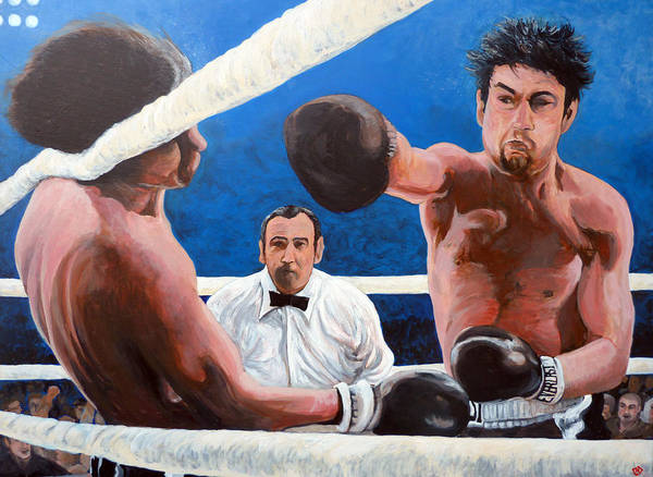 Wall Art - Painting - Raging Bull by Tom Roderick